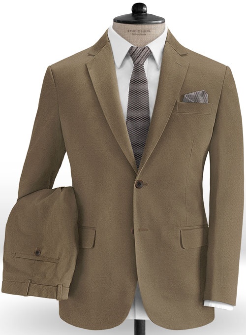 df23729fc2e0 Summer Weight Irish Brown Chino Suit   StudioSuits  Made To Measure Custom  Suits