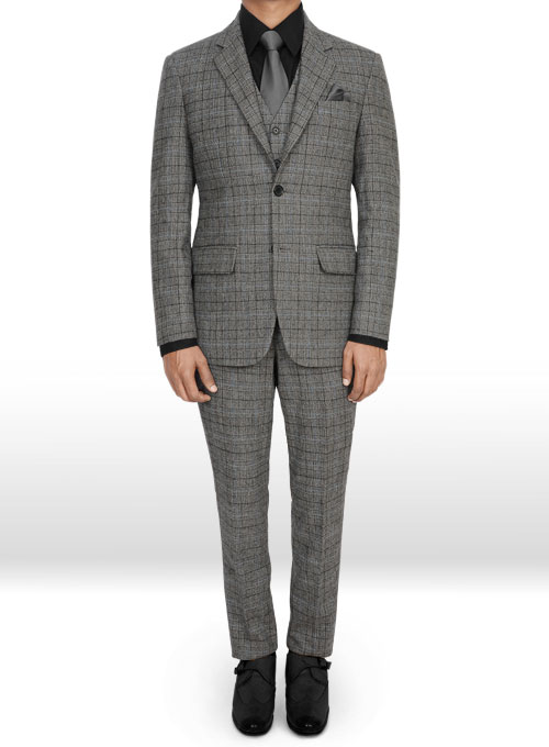 e60a4f8992656 Vintage Sports Checks Gray Tweed Suit