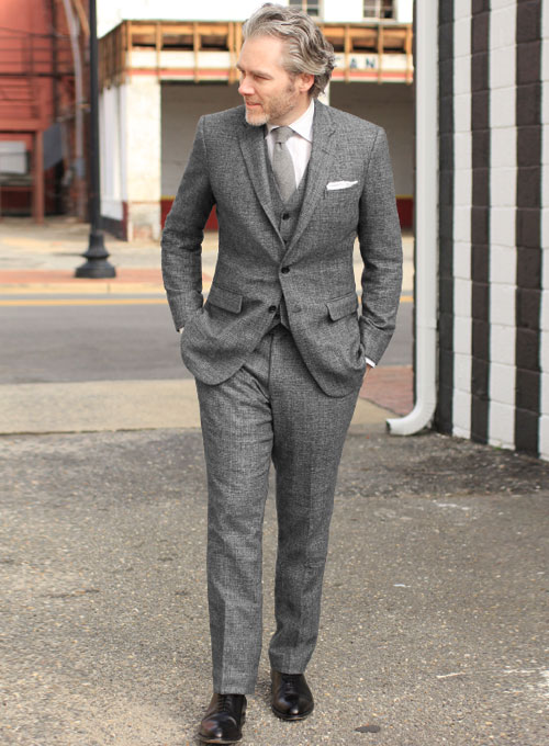 Vintage Glasgow Gray Tweed Suit : StudioSuits: Made To Measure Custom Suits,  Customize Suits, Jackets and Trousers