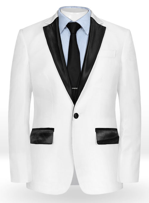 9ed2d8092b68 White Terry Rayon Tuxedo Jacket   StudioSuits  Made To Measure Custom Suits