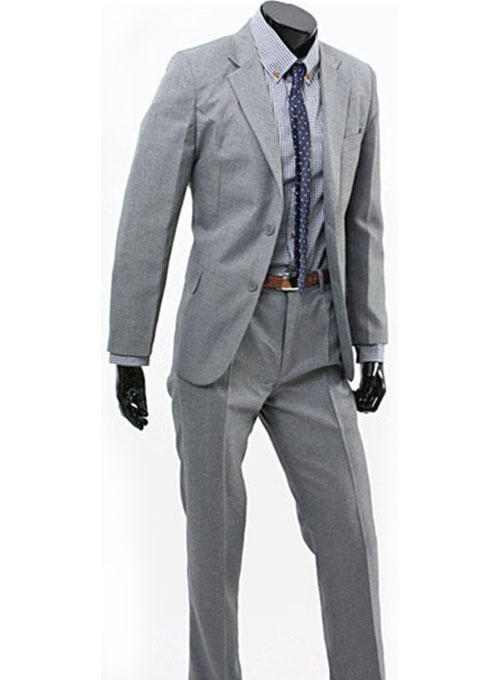 Light Gray Worsted Wool Suit [Light Gray Worsted Wool Suit