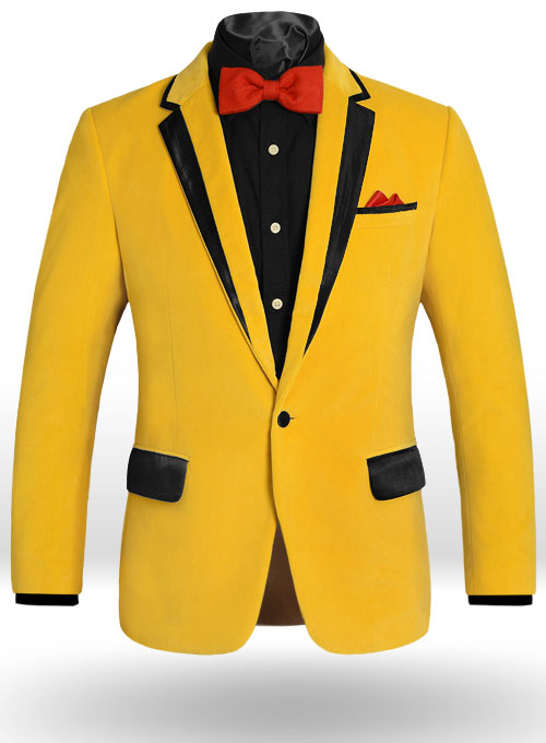 Yellow Velvet Dinner Jacket Studiosuits Made To Measure